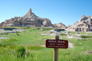 Badlands Notch Trail